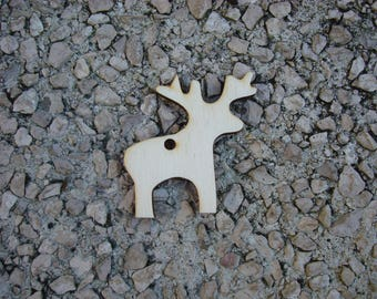 Hanging Wood 6 mm 1558 a Christmas tree decoration