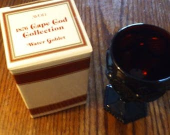 Avon 1876 Cape Cod Collection Ruby Red Wine Goblet