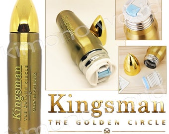Authentic Licensed Kingsman 2 The Golden Bottle Special Collection LIMITED Stainless Double Wall  A1