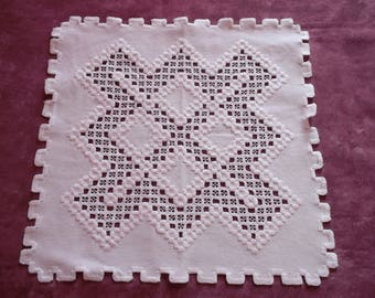 Gorgeous doily while hardanger embroidery