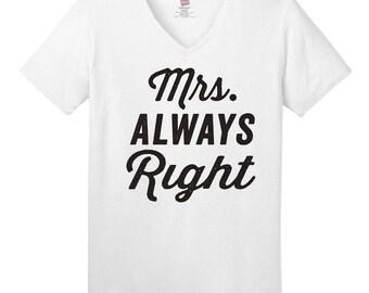 Bride Shirt, Honeymoon Shirt, Honeymoon Gift,Husband Gift, Wedding Gift, Newlywed Gift, Newlywed Shirt, Mr Never Right