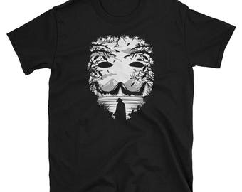 Mask Vendetta Halloween scary t-shirt