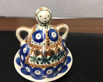 Blue Rose Pottery from Poland