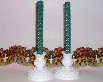 Fenton Hobnail Milk Glass Candle Stick Holders//Milk Glass Candle Holders//Hobnail Candle Holders//Milk Glass//Hobnail Milk Glass