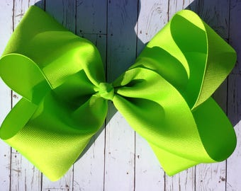 Lime Green Large JoJo Style Hair Bow