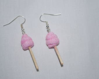 "Gourmet Earring ""cotton candy"""