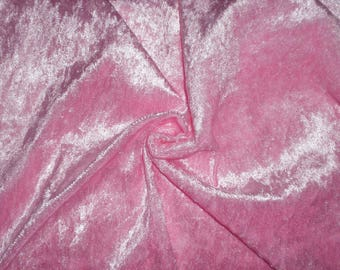 Fabric pink velvet panne - price per meter