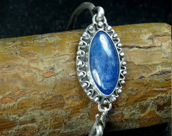 Handmade Bracelet, Kyanite, Sterling Silver, 925, Gemstone, Jewelry Design, Free Shipping