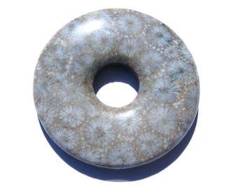 Donut corail fossilisé beige et gris clair.