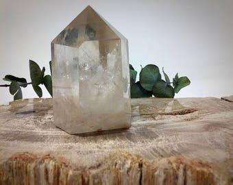 Clear White Quartz Crystal Tower