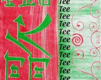 NAPKIN Asia: calligraphy Chinese #DI013
