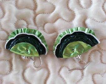 Earrings green nespresso capsules