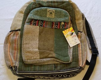 Hemp Backpack Hand Crafted in Nepal
