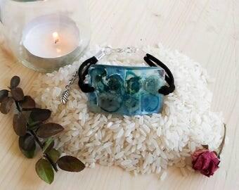 Blue Roses Bracelet