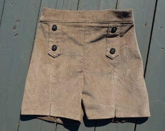"""Timber"" beige velvet shorts size 3 years"