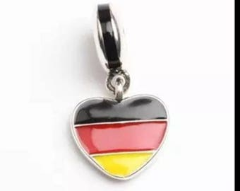 Pandora charms German Germany love heart country flag pandora charm bracelets and pandora necklaces jewellery making sterling silver gift