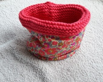 snood in liberty and wool, to order