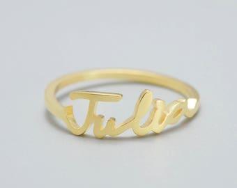 Dainty personalized ring • Custom Name Ring • Sentimental gift • Name rings for women • Handwriting rings • Personalized Name Ring #RHWX001