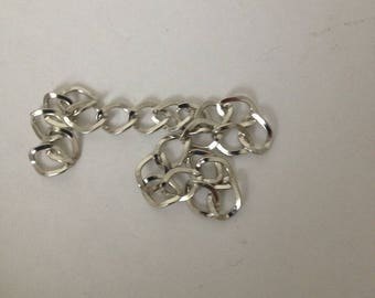 Chain silver piece of 15cm