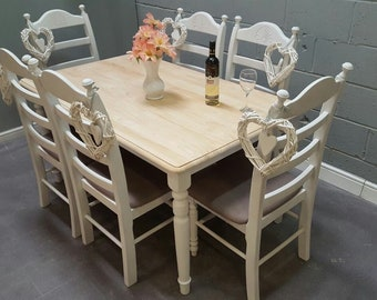 Gorgeous Bespoke 5ft table and chair set