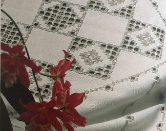 PDF Hardanger Embroidery White Tablecloth