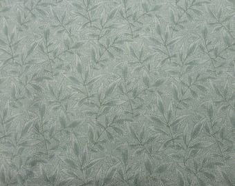 """Pale green fabric cotton texture. Designed by Fons and Porter for Bernartex Ltd. size 74cm (29"""") x 114cm (45"""")"""