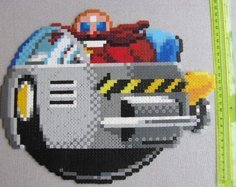 Hama Bead Pixel Creation - Doctor Robotnik / Eggman from Sonic the Hedgehog for the Sega Mega Drive / Genesis