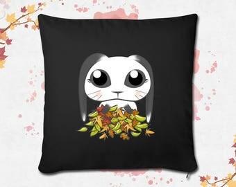 Cute Bunny black Cushion cover