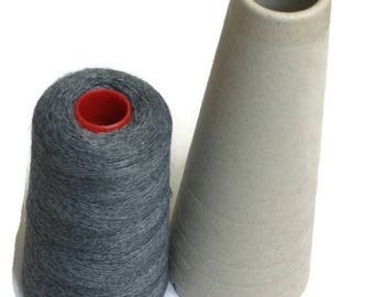 Knitting yarn fine merino dark grey melange wool blend Machine washable 100 gr 1250 m Cone yarn Machine knitting Hand knitting yarn