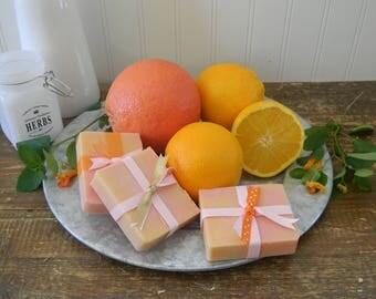 Grapefruit Orange Soap Bar