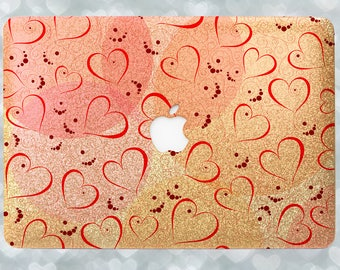 Macbook case glitter Macbook romantic Macbook case heart Case Pro Retina 15 Valentines day case Macbook Pro case macbook case bling Macbook