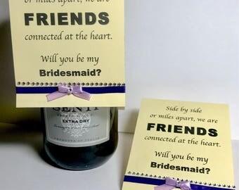 Will you be my bridesmaid invitation invite wedding
