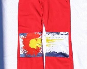 Paint Splash Colorado Flag Snow Pants