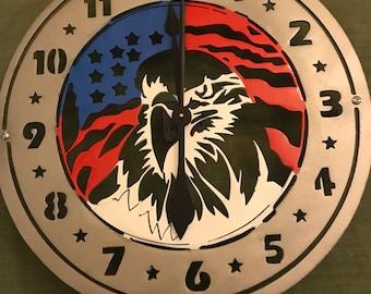 American Eagle Clock