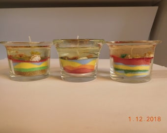 Glass Gel Candles by Kay