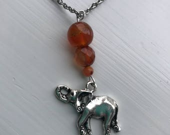 Elephant Necklace, Necklaces for Women, Charm Necklace, Elephant Gifts, Elephant Jewelry, Stainless Steel Necklace, Gifts for Her, Gift