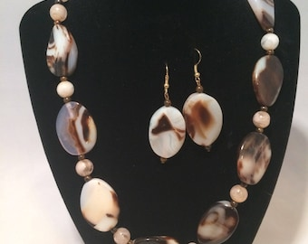 Tortoise shell jewelry set