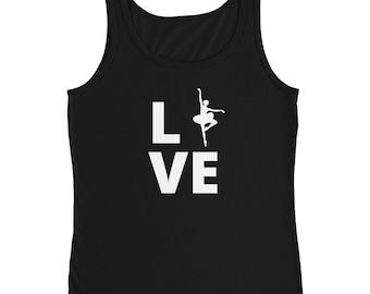 Ballet Love Tee   Ballet Dancer T-Shirt   Ladies' Tank