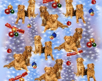 Nova Scotia Duck Tolling Retriever Dog Christmas Gift Wrapping Paper.