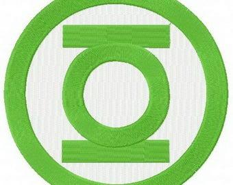 Green Lantern Embroidery Design
