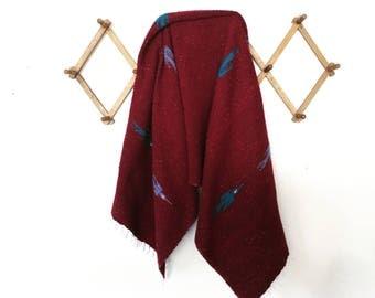 Falsa blanket / mexican blanket / throw blanket/ boho decor blanket / thunderbird print mexican blanket / yoga