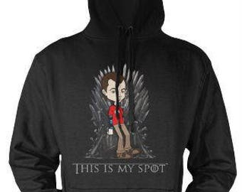 This Is My Spot Game of Thrones Big bang Theory Sheldon Cooper Parody Unisex Hoodie Boyfriend gift , Mens Hoodie, Womens Hoodie