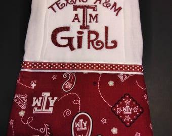 Texas A&M Aggies burp cloth