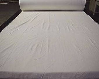 "White 100% Cotton Soft Corduroy Fabric 57"" Wide Upholstery Apparel 9 Wale"