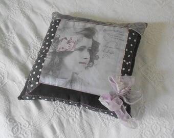 Vintage grey cushion