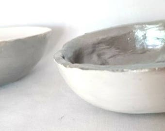 Set of two Jewellery Dishes in Silver