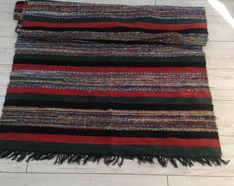 Bulgarian rug - NEVER USED - Vintage Bulgarian Handmade Woven - Home Decor