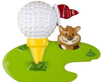 Golf Ornament - Golf Enthusiast - Golfers Gift - Golfers Stocking Stuffer - Personalized Christmas Ornament