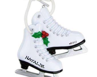 Figure Skates Personalized Christmas Ornament