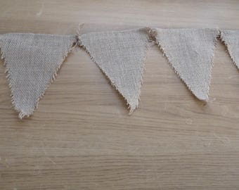 New Hessian/sackcloth Bunting. Triangles.  Traditional Christmas Decoration.  Eco friendly.